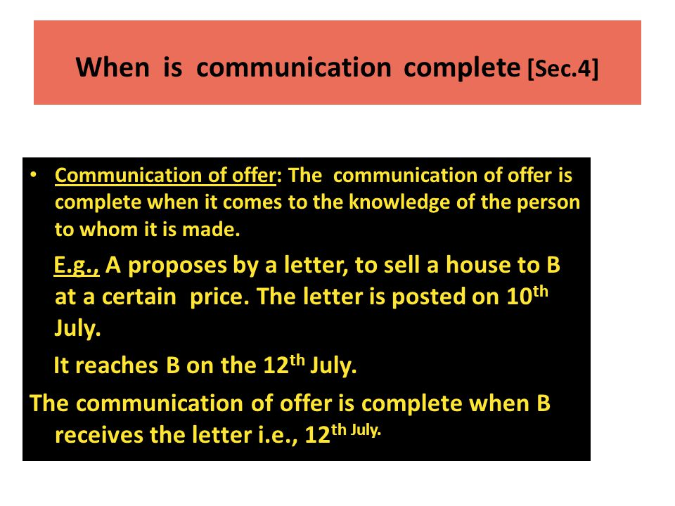 When is communication complete [Sec.4]
